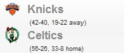 Knicks vs Celtics Game 1 NBA Playoff 2011: Calendario Partidos 17 Abril