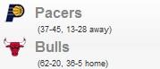 Pacers vs Bulls (Game 1)