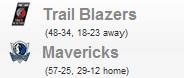 Trail Blazers vs Mavericks (Game 1)