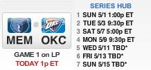 Memphis Grizzlies vs Oklahoma City Thunder (semifinales)