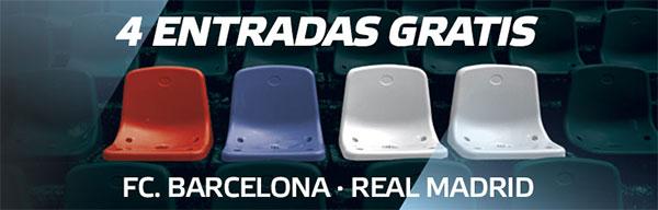 Suertia regala 4 entradas para el clásico Barcelona-Real Madrid