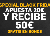 #BlackFriday con nosotros y Betfair. Apuesta 20? y te regalan 50?